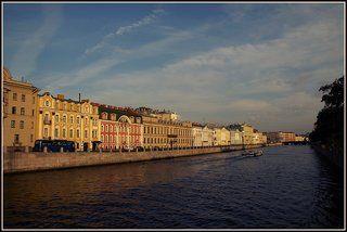 питер, фонтанка, набережная, вода, город, Капустин Николай.  Питерская открытка.
